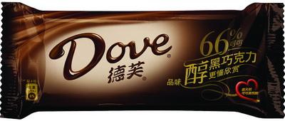德芙香濃黑巧克力