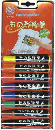 8色布彩繪筆 TM-8