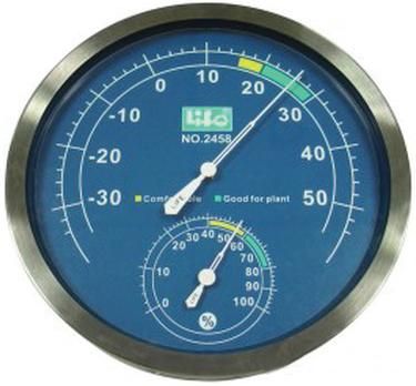 NO.2458  金屬框溫度ˋ濕度計