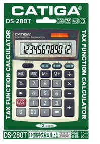 CATGA  DS-280T  12位數中文稅率計算機