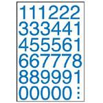 W2061 彩色數字標籤